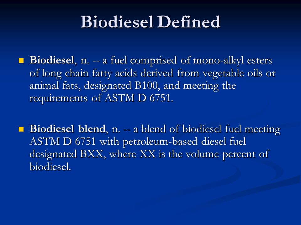 Materials Compatibility Biodiesel and biodiesel blends will form high sediment levels when in contact with the following metals: Biodiesel and biodiesel blends will form high sediment levels when in contact with the following metals: -Brass, Bronze, Copper, Lead, Tin and Zinc Biodiesel is compatible with: Biodiesel is compatible with: -Mild and Stainless Steel, Aluminum