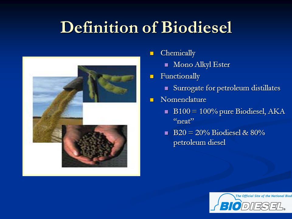 Biodiesel Adds Significant Lubricity to ULSD The average lubricity of Biodiesel blends compare to lubricity additives.