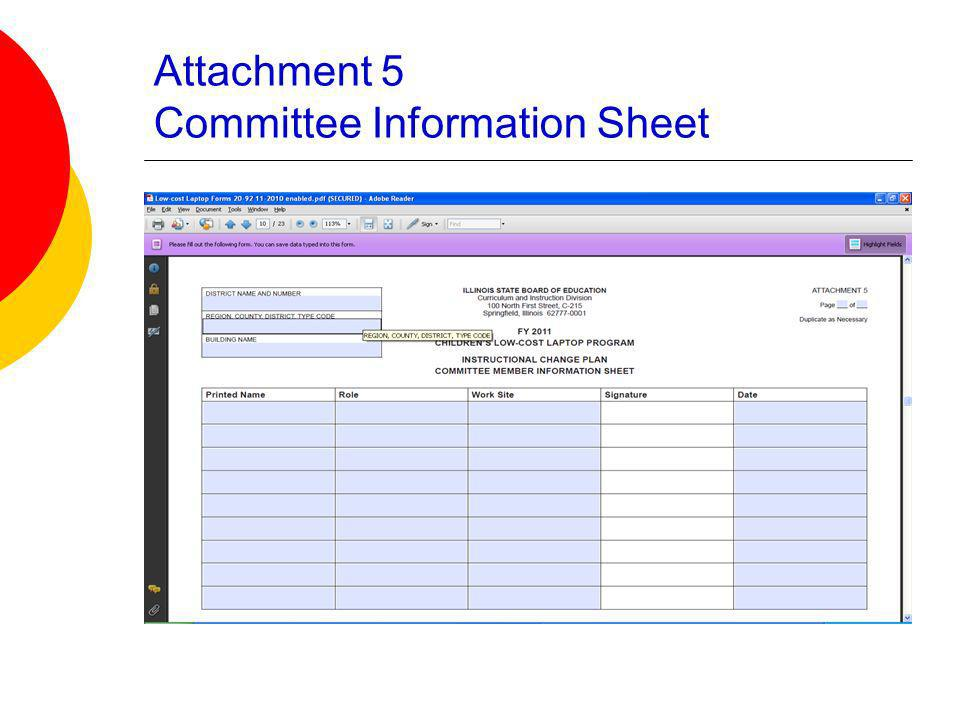 Attachment 5 Committee Information Sheet