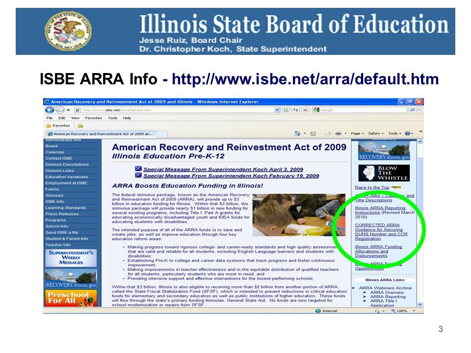 3 ISBE ARRA Info - http://www.isbe.net/arra/default.htm