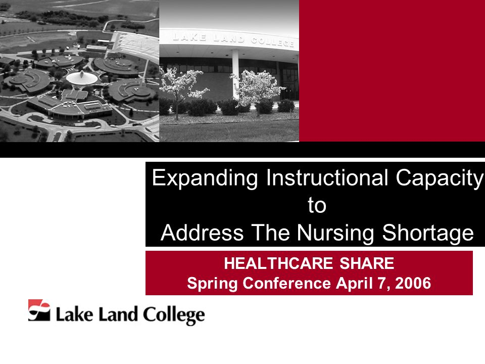 Expanding Instructional Capacity to Address The Nursing Shortage HEALTHCARE SHARE Spring Conference April 7, 2006