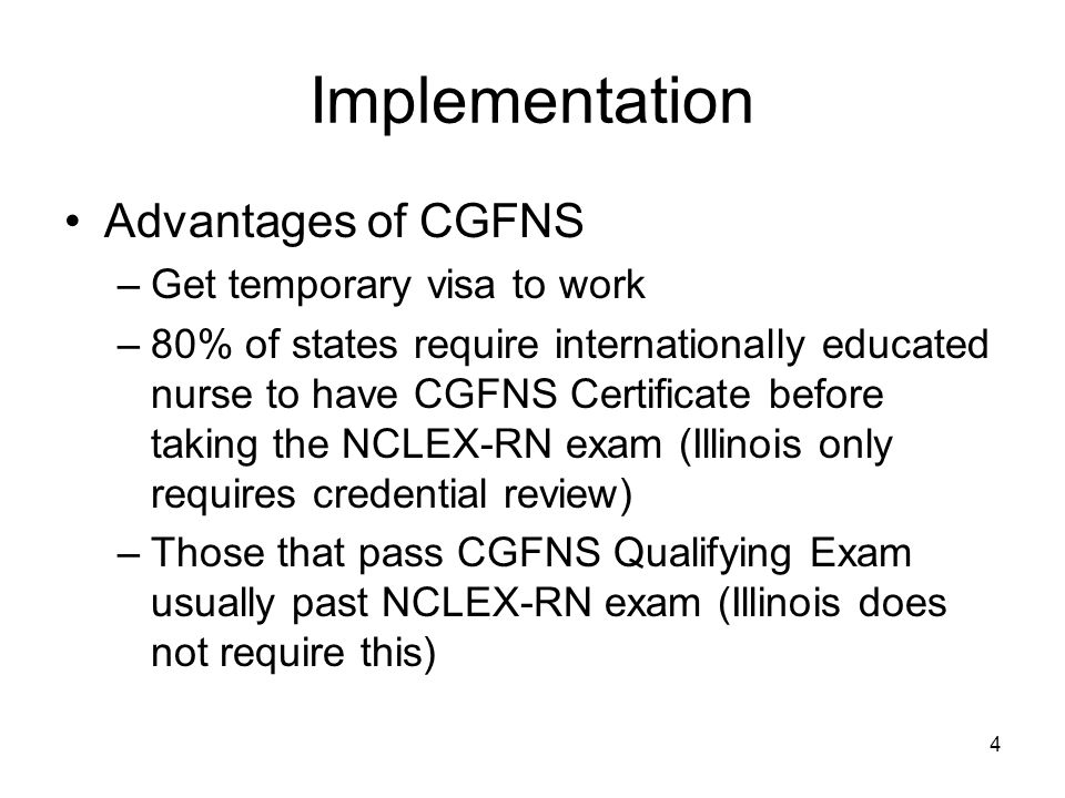 15 The Future Expansion limited by: –Lack personnel needed to advise, schedule, coordinate these courses –Student financial assistance Foreign educated nurses will continue to be in demand