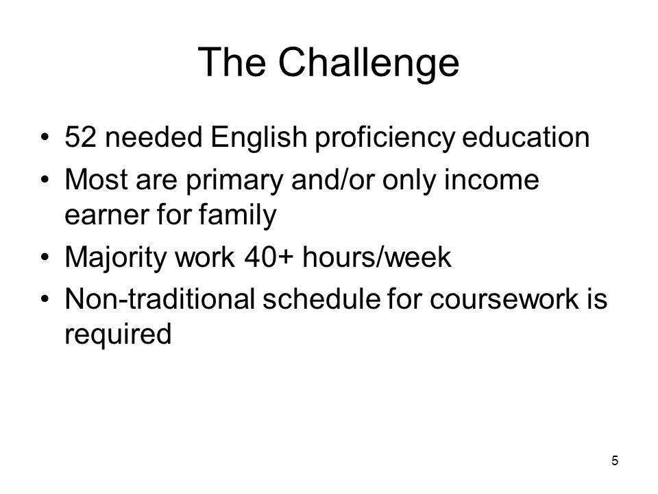 6 Meeting the Challenge English proficiency education was provided Assessment by CGFNS provided specific areas that needed to be completed by student before taking NCLEX exam Areas needed both didactic and clinical experience –General Refresher –Psychology –Maternity Modify Oaktons curriculum to meet the need for evening and weekend delivery