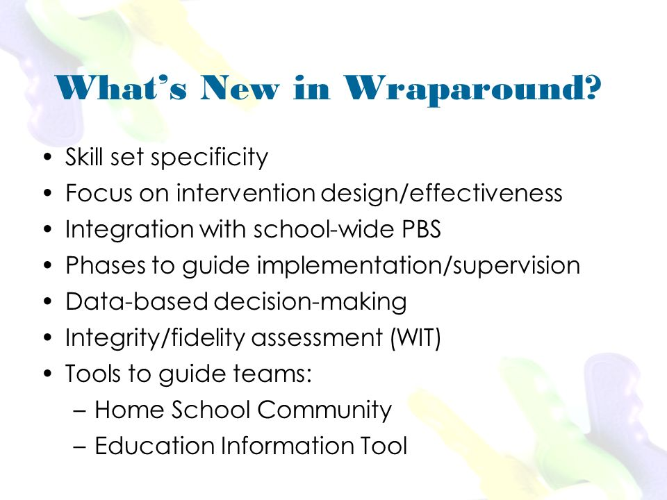 Whats New in Wraparound.