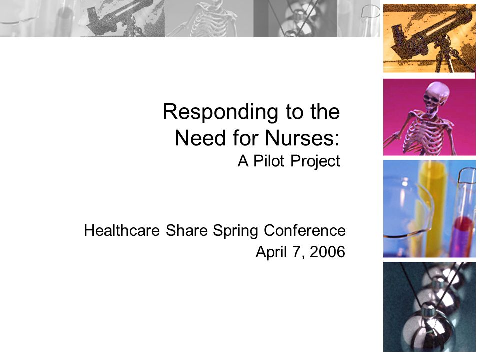 Responding to the Need for Nurses: A Pilot Project Healthcare Share Spring Conference April 7, 2006