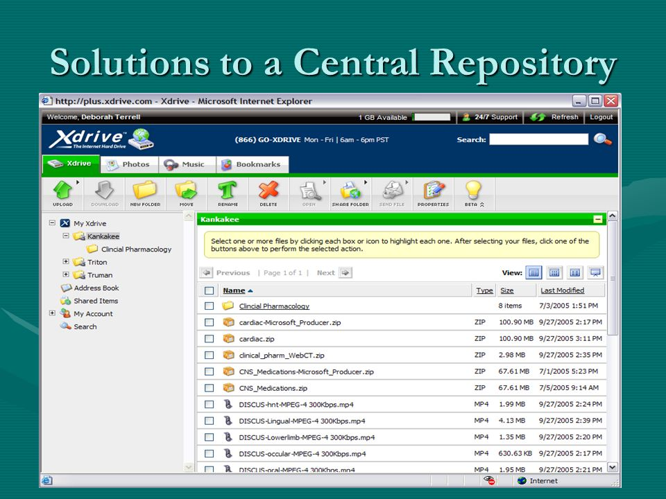 Solutions to a Central Repository