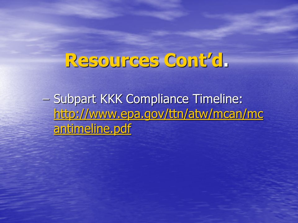 Resources Contd.