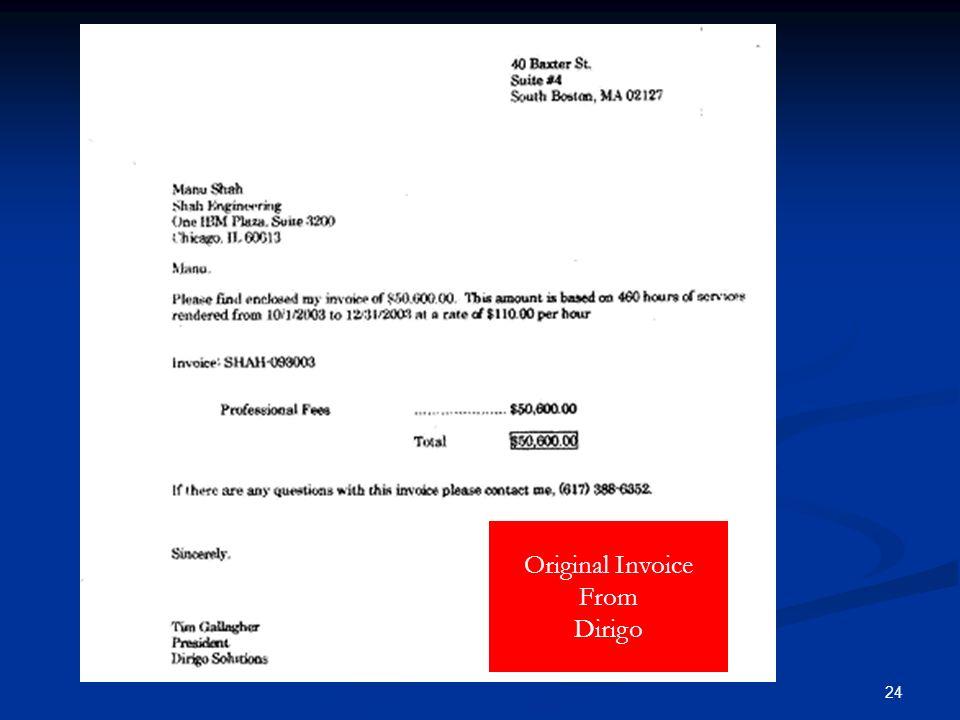 24 Original Invoice From Dirigo