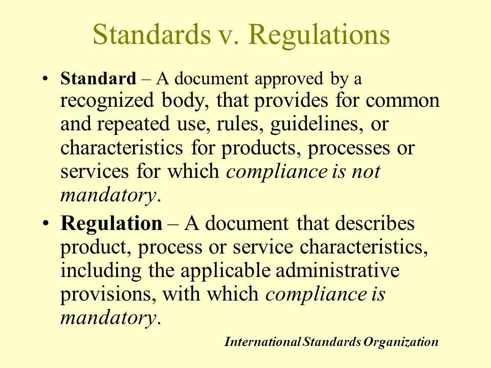 Standards v.