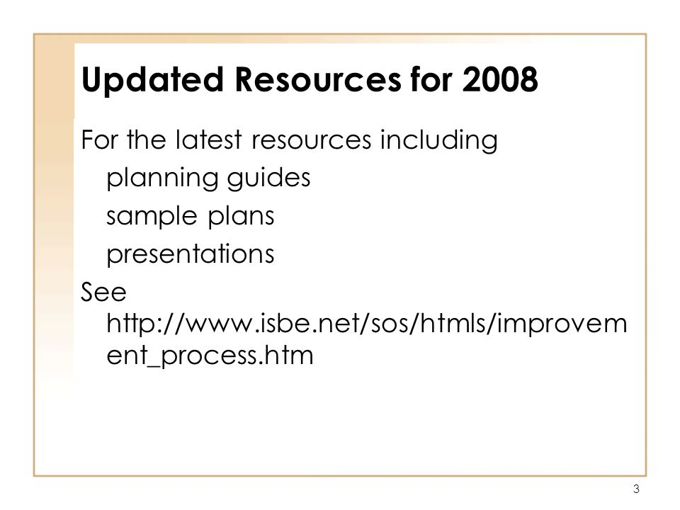 3 Updated Resources for 2008 For the latest resources including planning guides sample plans presentations See   ent_process.htm