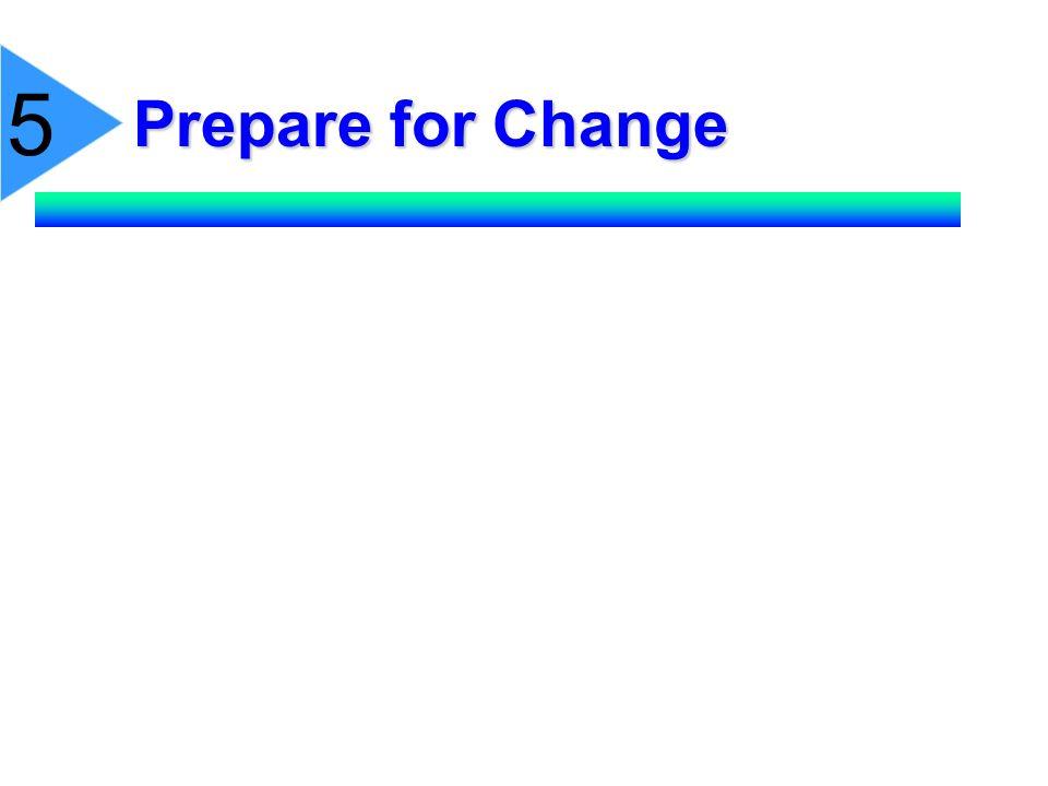 Prepare for Change 5