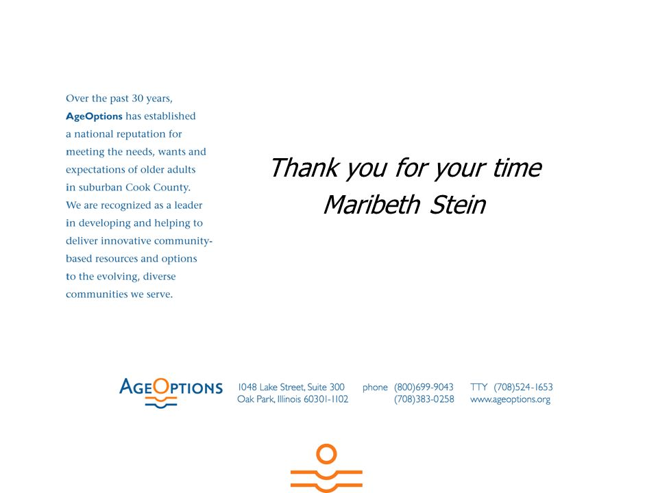 Thank you for your time Maribeth Stein