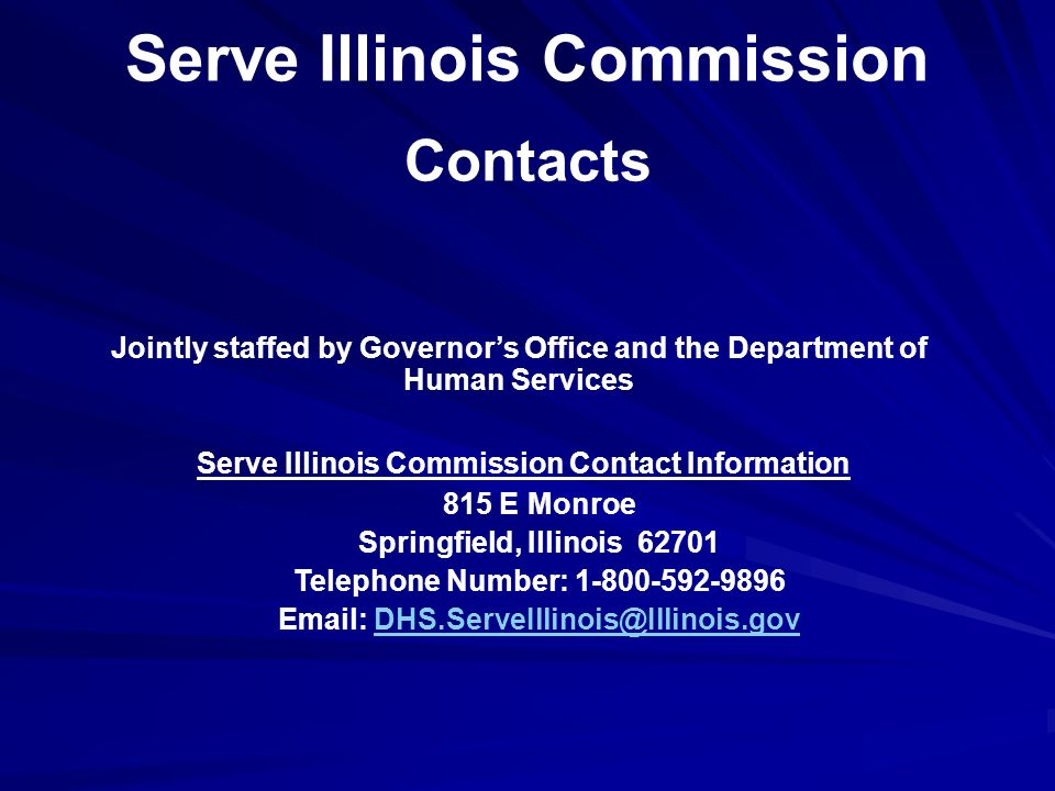 Using Serve.Illinois.gov Users may choose from a wide array of interests