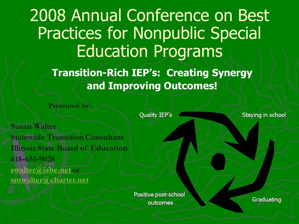 2008 Annual Conference on Best Practices for Nonpublic Special Education Programs Transition-Rich IEPs: Creating Synergy and Improving Outcomes! Prese