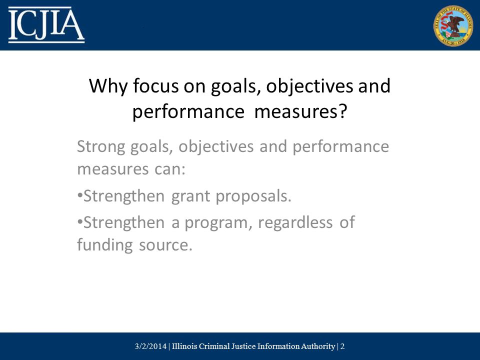 Why focus on goals, objectives and performance measures.