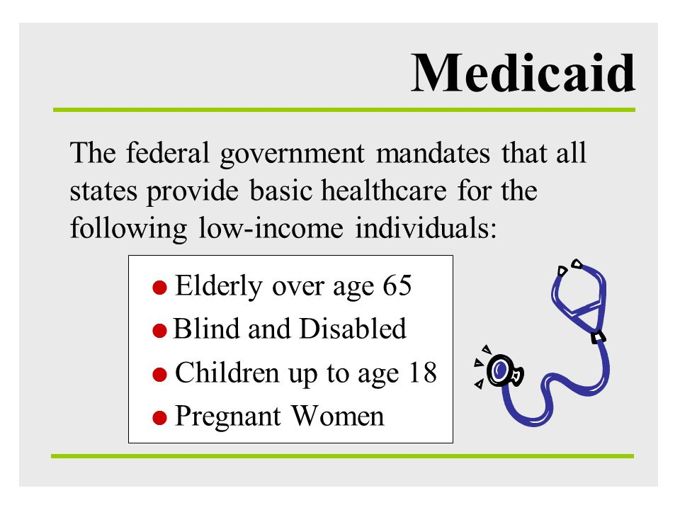Medicaid Principle factors driving Medicaid spending include: Rate: amount paid for services provided (rates set by the state) Population: number of people eligible for and enrolled in program Utilization: amount of services used by enrollees