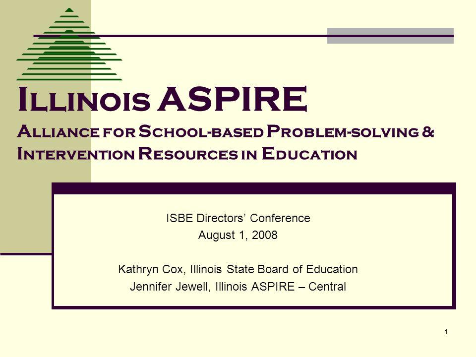 22 For More Information http://www.illinoisaspire.org ISBE: Kathryn Cox 217-782-5589 kcox@isbe.net http://www.illinoisaspire.orgkcox@isbe.net Illinois ASPIRE – North Dr.