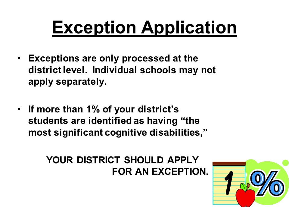 Section 3 The Superintendent Assures: The District disseminates information and promotes the use of appropriate accommodations to increase the number of these students who are tested against grade- level academic achievement standards.