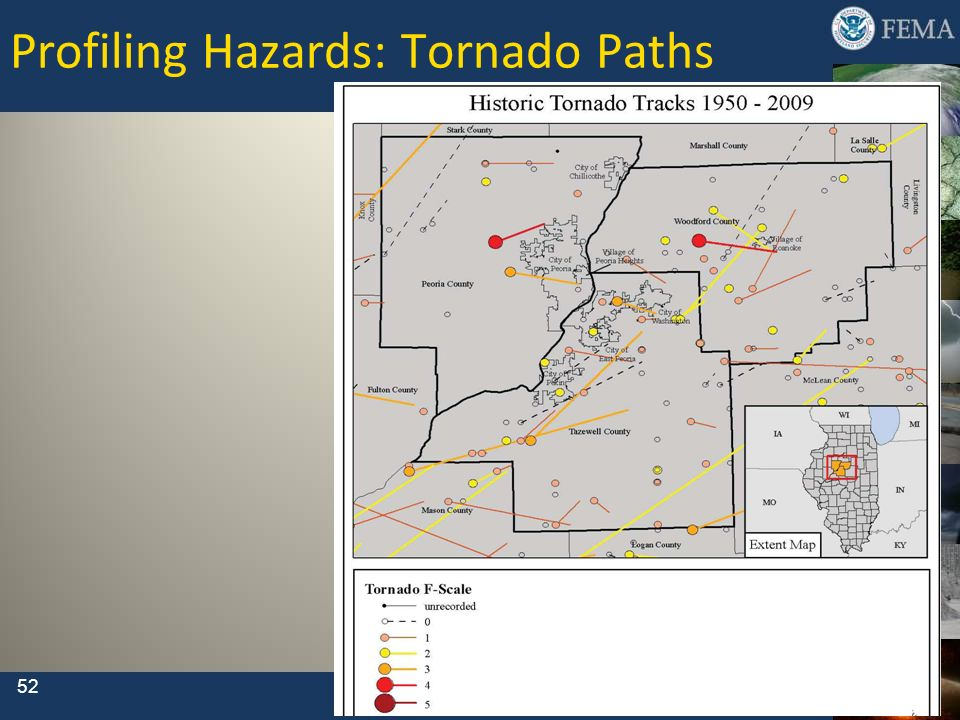Profiling Hazards: Tornado Paths 52