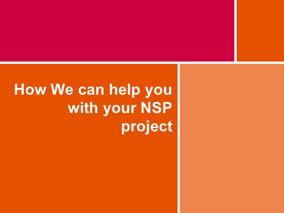 How We can help you with your NSP project