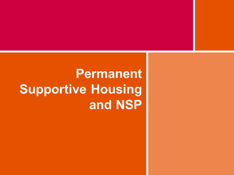 Permanent Supportive Housing and NSP