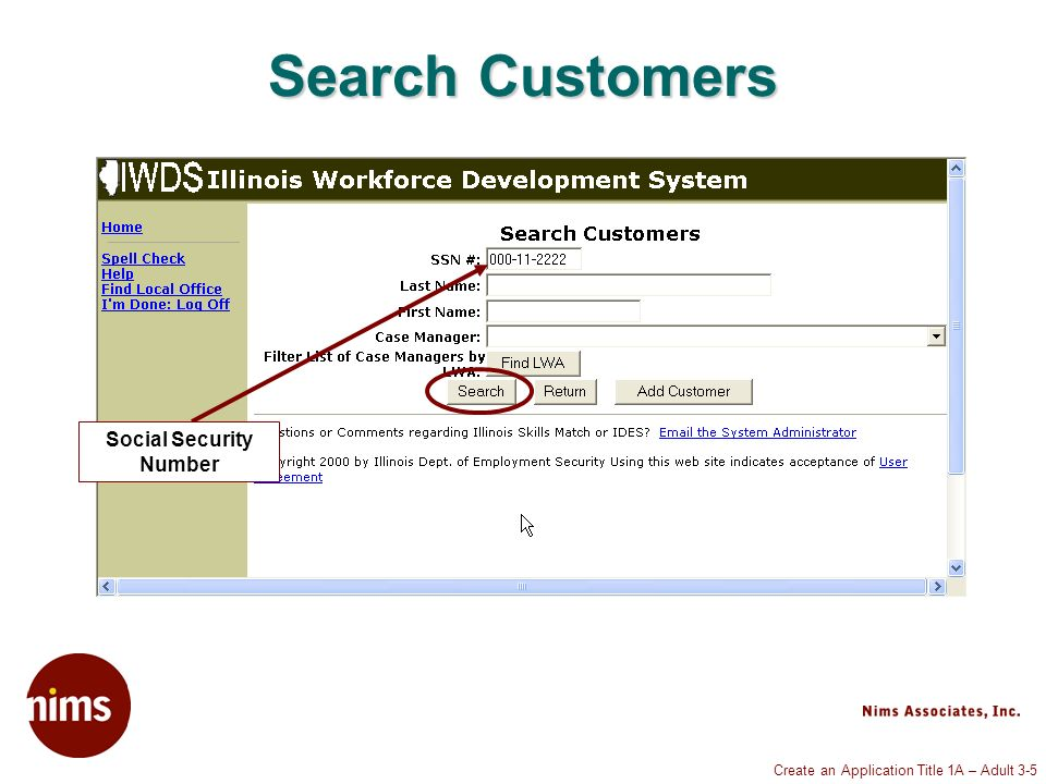Create an Application Title 1A – Adult 3-16 Private Information