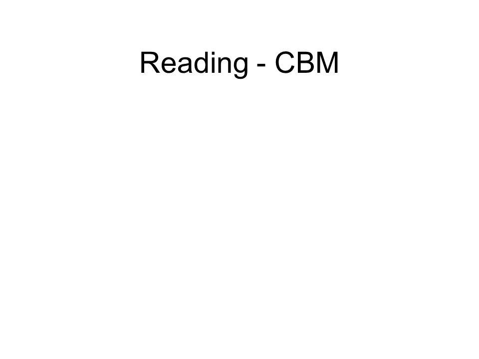 Reading - CBM