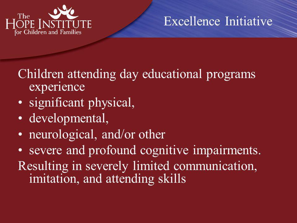 Excellence Initiative The THSLC is equipped with: 12 individual classrooms containing sensory and observation rooms; individual and group playgrounds designed by occupational and physical therapists; a way finding system to promote independence; a sensory sensitive lighting system;