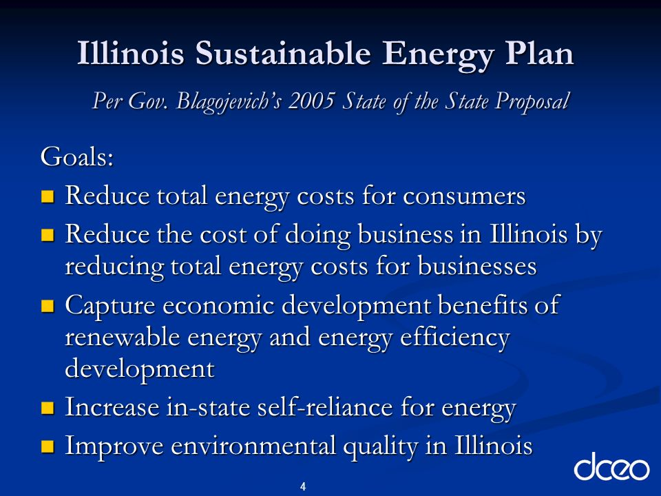 4 Illinois Sustainable Energy Plan Per Gov.