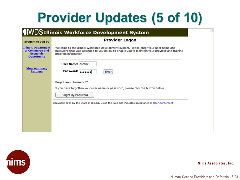 Human Service Providers and Referrals 5-23 Provider Updates (5 of 10)