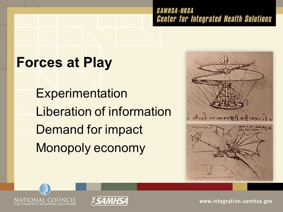 Forces at Play Experimentation Liberation of information Demand for impact Monopoly economy