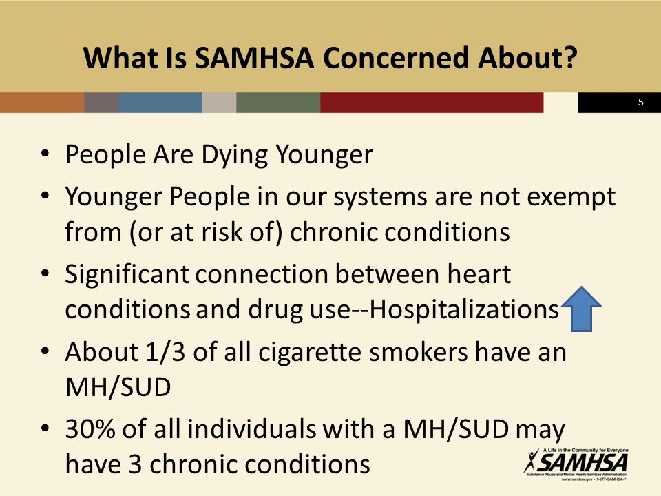 5 What Is SAMHSA Concerned About.