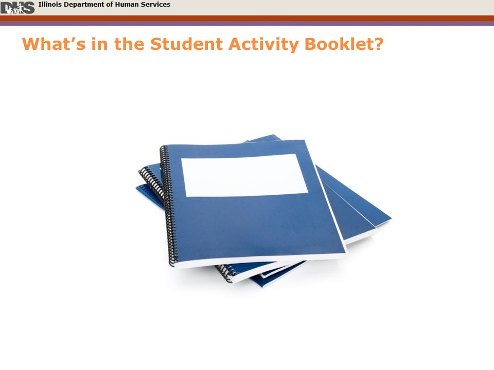 Whats in the Student Activity Booklet?