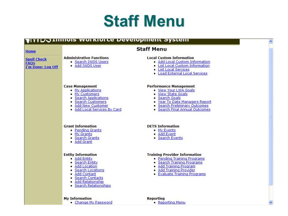 Customary Statutory Programs and Titles 3-4 List Custom Information