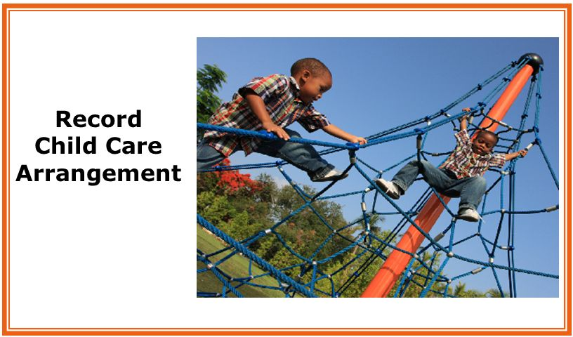 Record Child Care Arrangement