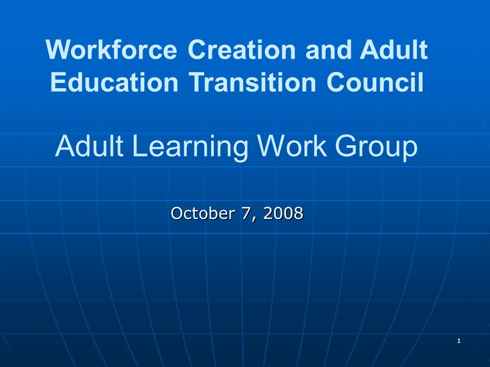 2 Work Group Structure Work Group Chairs: Melinda Brown, President, Maryland Association for Adult and Community Continuing Education; Adult Education Coordinator, St.