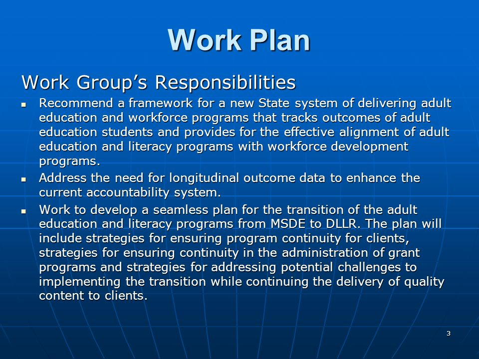 24 Preliminary Recommendations Program Delivery – contd Expand EDP program services and GED testing sites throughout the State.