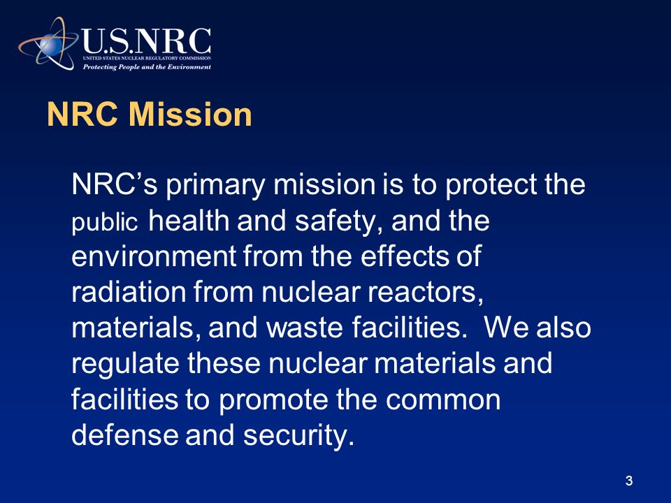 2 Overview of the U.S. Nuclear Regulatory Commission