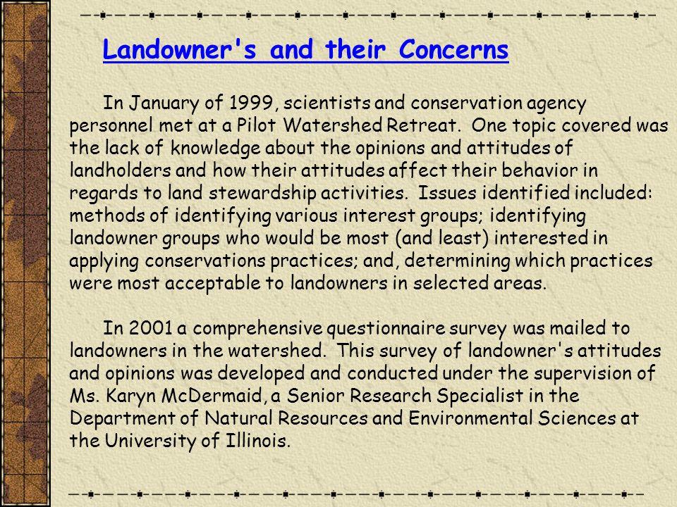 Landowner types responding to the 2001 conservation attitude/opinion survey.