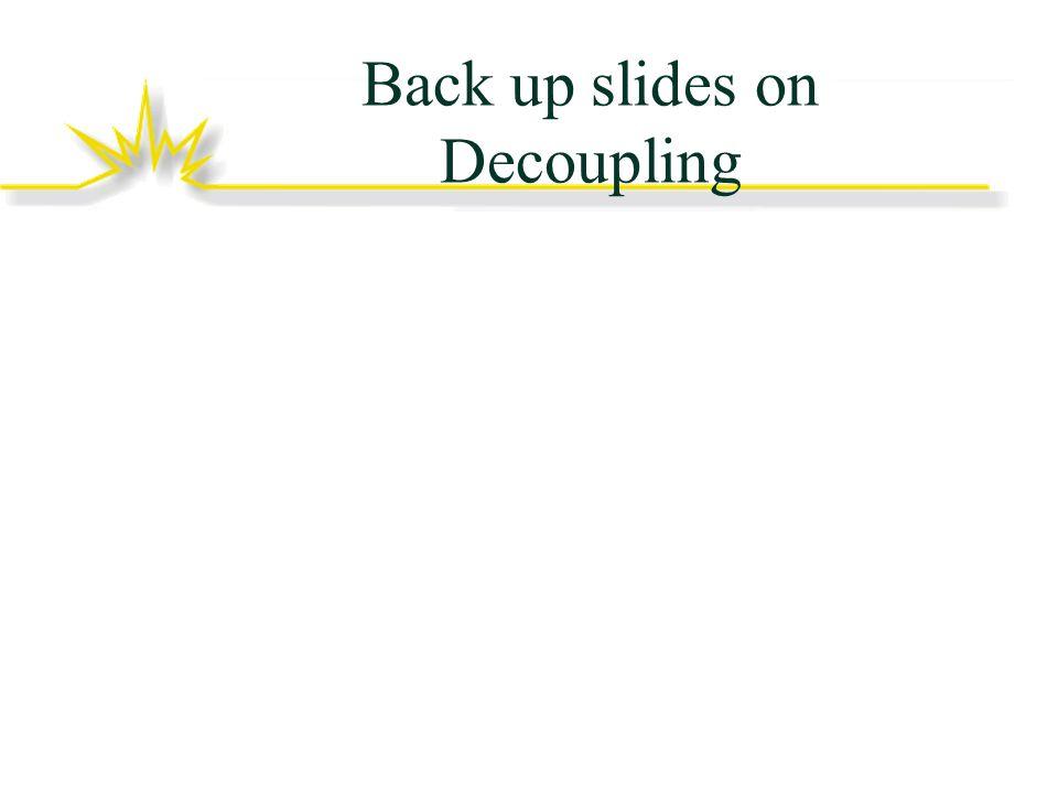 Back up slides on Decoupling
