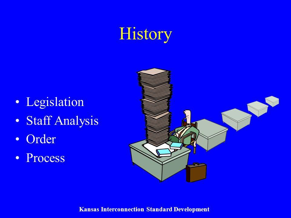 Kansas Interconnection Standard Development Legislation HB 2018 Section 32 –Passed by 2003 Legislature K.S.A.