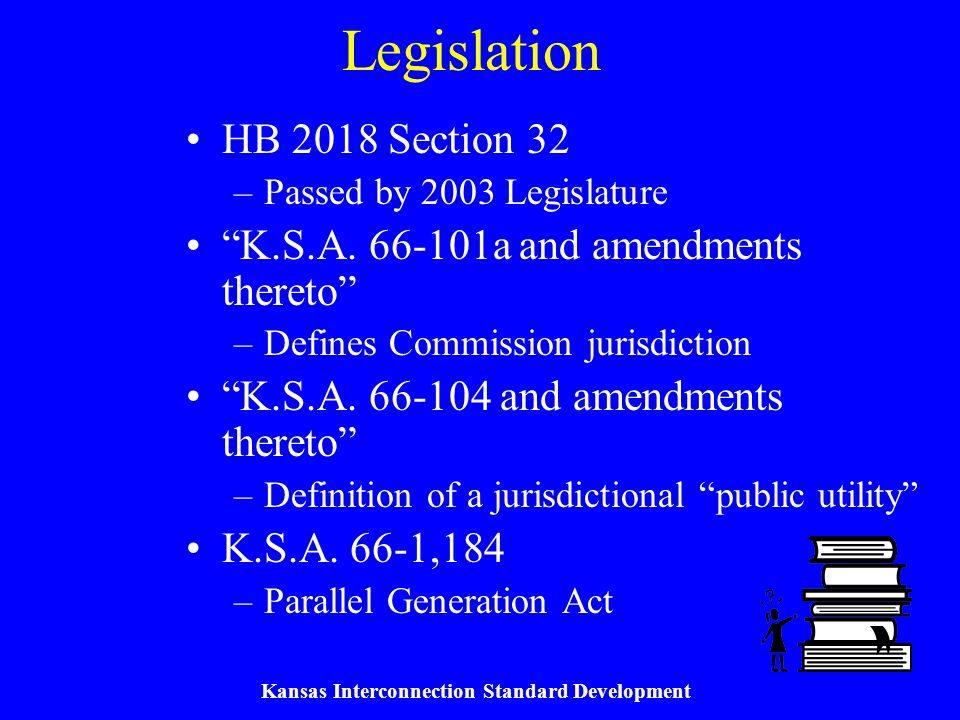 Kansas Interconnection Standard Development Commission Orders KCC Docket No.