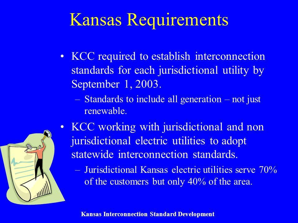 Kansas Interconnection Standard Development Federal Requirements (Transmission Interconnections) Order 2003 (FERC Docket No.