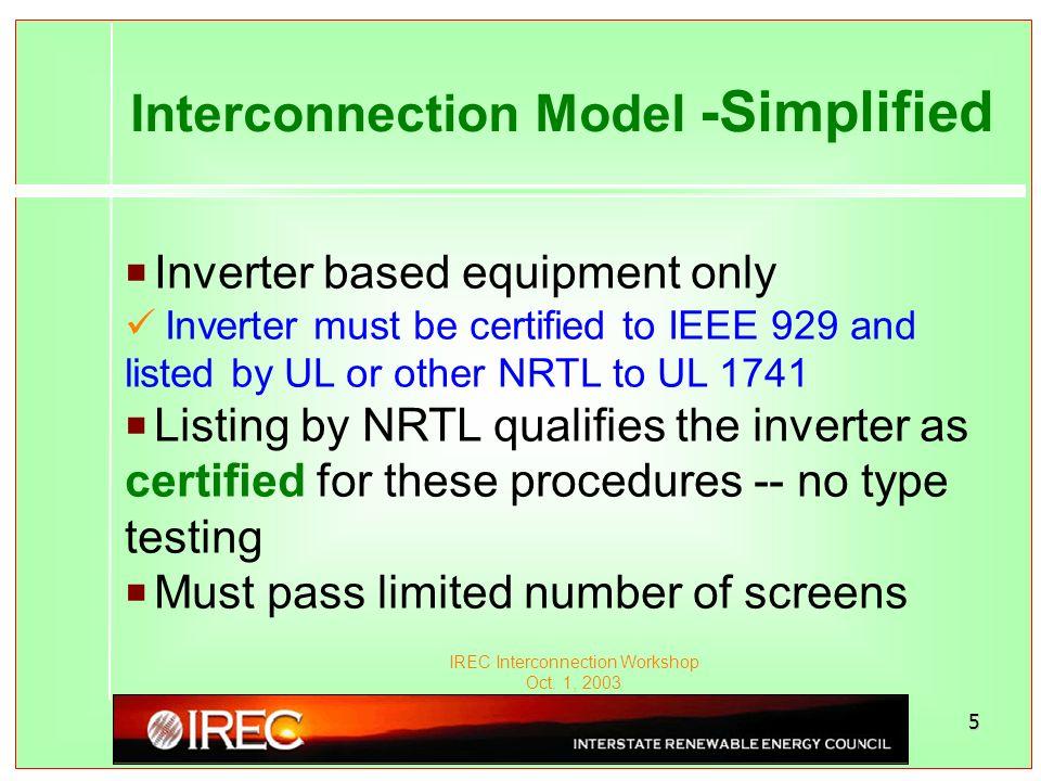 IREC Interconnection Workshop Oct.