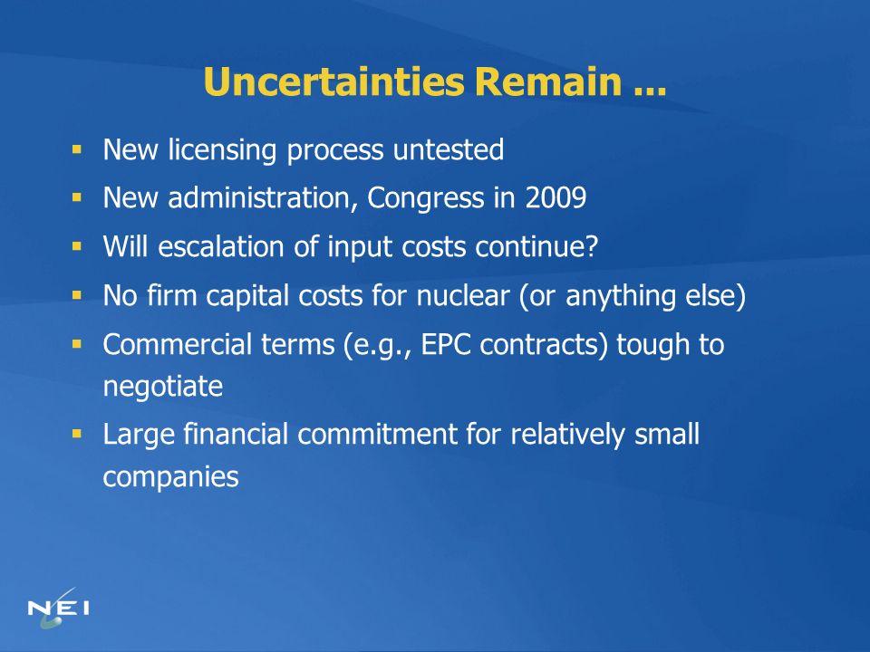 Uncertainties Remain...