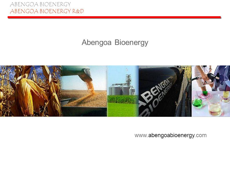 ABENGOA BIOENERGY ABENGOA BIOENERGY R&D La Coruña (50 Mgal) York, NE (55 Mgal) Colwich, KS (25 Mgal) Portales, NM (30 Mgal) Ravenna, NE (88 Mgal) Cartagena (40 Mgal) Salamanca (52 Mgal)AB France (65 Mgal) Abengoa Bioenergy is the only international producer of ethanol Production Facilities in EUProduction Facilities in U.S.