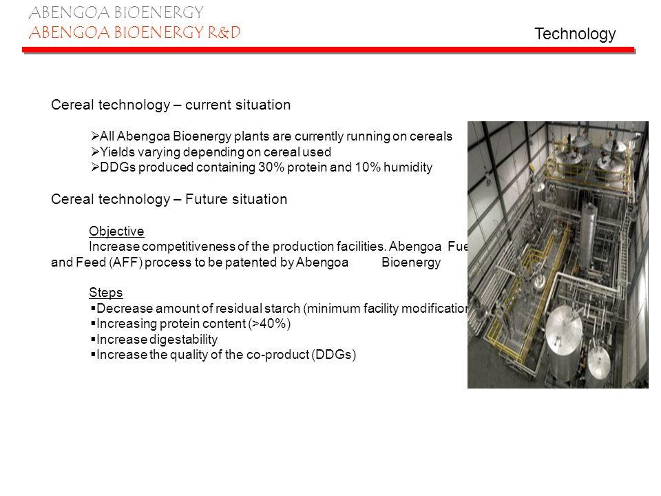 ABENGOA BIOENERGY ABENGOA BIOENERGY R&D Enzymatic hydrolysis technology – current situation Abengoa Bioenergy has develop a proprietary fractionation technology for biomass processing.