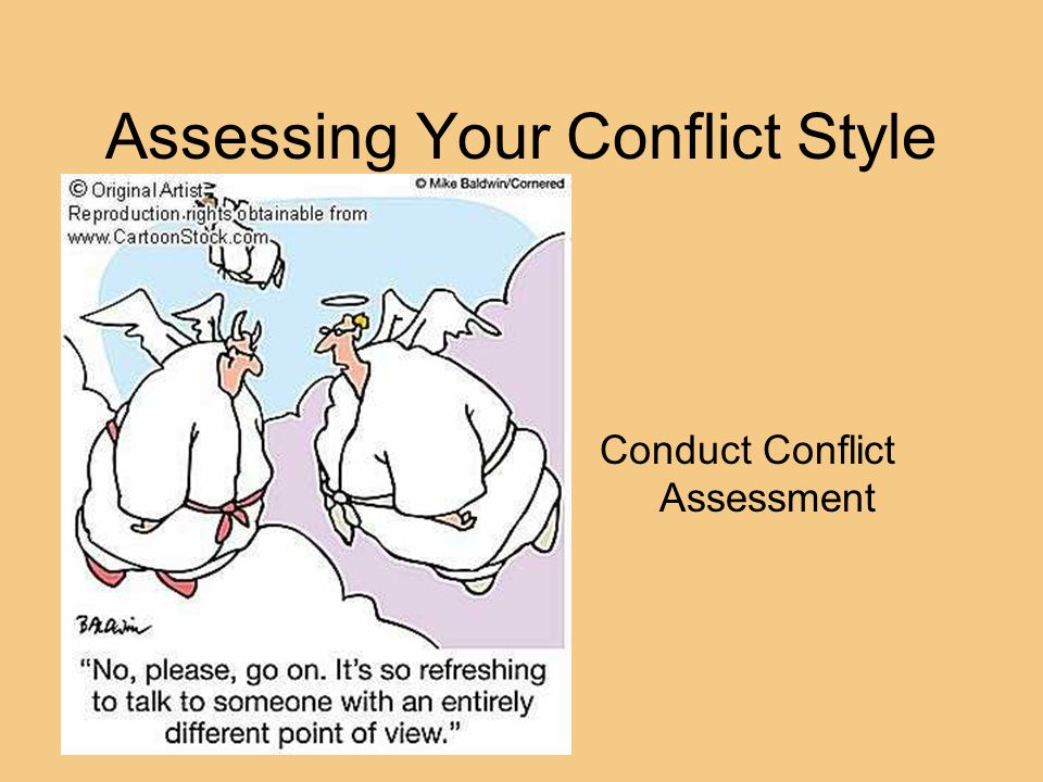 Assessing Your Conflict Style Conduct Conflict Assessment