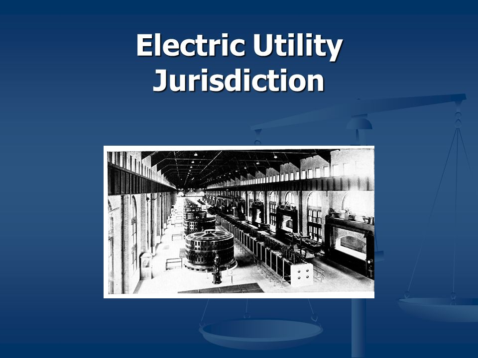 Electric Utility Jurisdiction