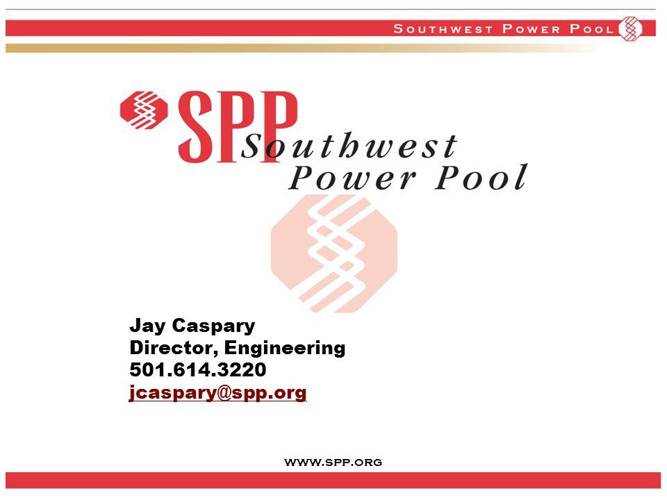 www.spp.org 36 Jay Caspary Director, Engineering 501.614.3220 jcaspary@spp.org jcaspary@spp.org